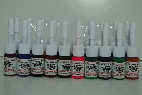 1TattooWorld Premium Tattoo Ink Set, 20 Color (5ml) each, OTW-C020